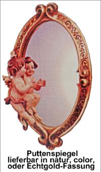 Spiegel mit Putte in diversen Größen bis 80cm