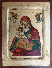 Ikone auf Holz gemalt Madonna