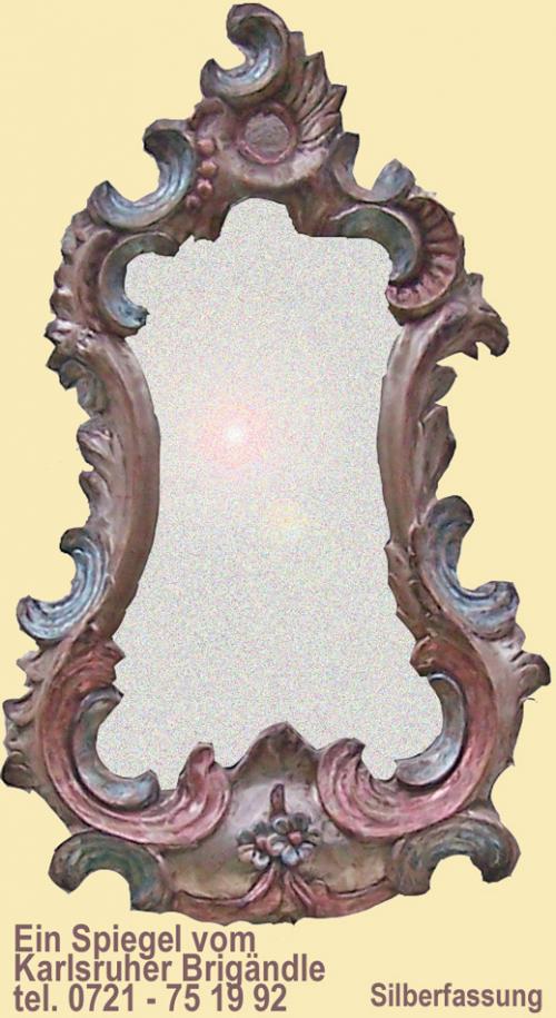 Spiegelrahmen in Silberfassung