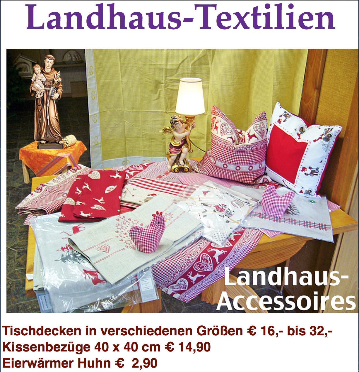 Landhaus-Accessoires - Landhaus-Tischdecken | Karlsruher Brigändle